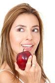 Gesunde ernährung frau — Stockfoto