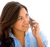 Mujer en el teléfono — Foto de Stock