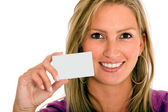 Personal contact card — Stock Photo
