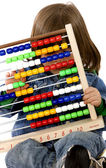 Children with abacus — Stock Photo