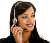Operador de suporte ao cliente — Foto Stock