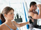 Mulher exercitando — Foto Stock