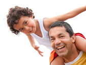 Father and son having fun — Foto Stock