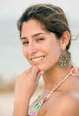Beach woman portait — Stock Photo