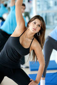 Gym woman exercising — Foto Stock