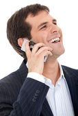 Telefonda iş adamı — Stok fotoğraf