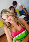 Beautiful university student — Stock Photo