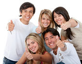 Amigos - polegares para cima — Foto Stock