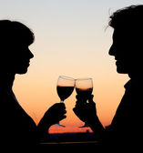 Couple toasting — Stock Photo