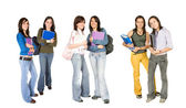 Beautiful students - fullbody — Stock Photo