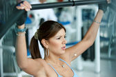 Woman doing exercise — Stockfoto