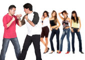 Casual guy competition — Stock Photo