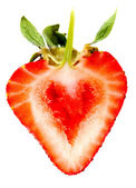 Heart shaped strawberry — Stock Photo