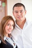 Obchodní pár — Stock fotografie