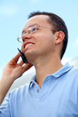 Man talking on the mobile — Foto Stock