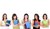 College female students — Stock Photo