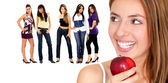 Healthy eating women — Stock Photo
