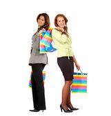 Women out shopping — ストック写真