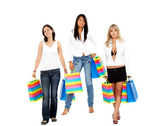 Weibliche shopper — Stockfoto