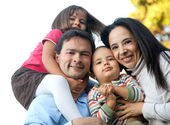 Latin american family — Stock Photo