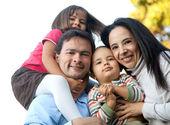 Latin american family — Stock Photo