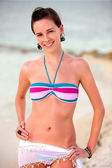Beach woman — Stockfoto