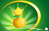 Król pomarańczowy — Zdjęcie stockowe