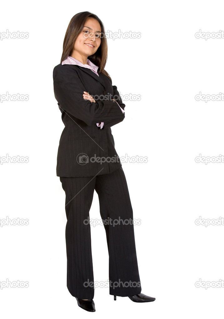 Business woman over a white background - latin american origin — Stock Photo #7705079