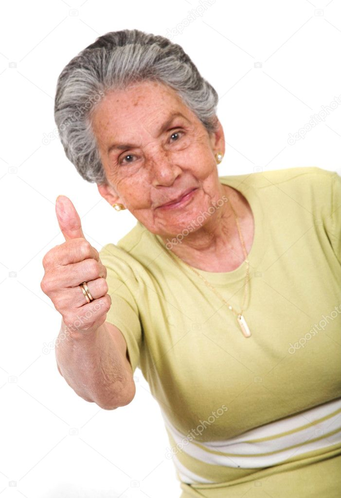 Friendly positive woman over white — Stock Photo #7705460