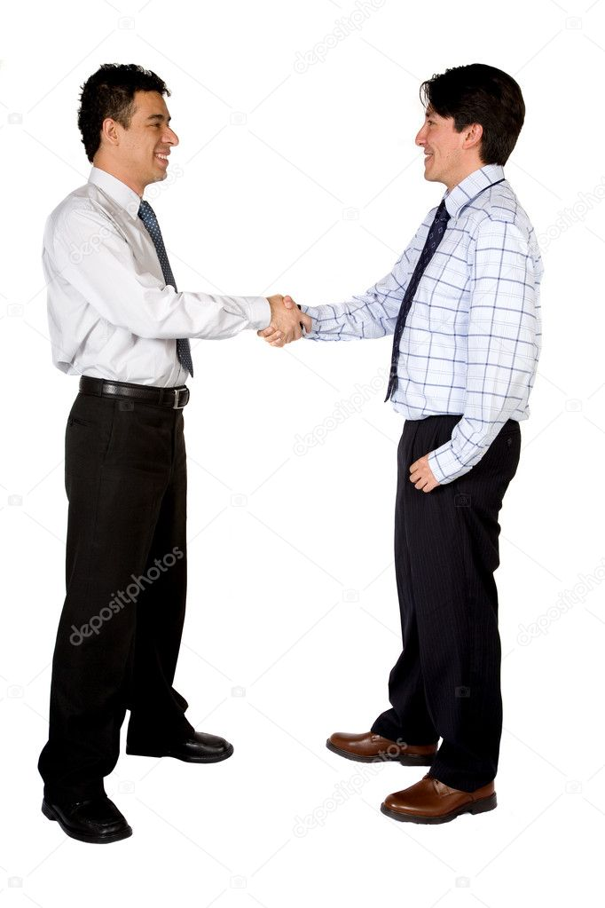 Business deal between two men over white background — Stock Photo #7706202