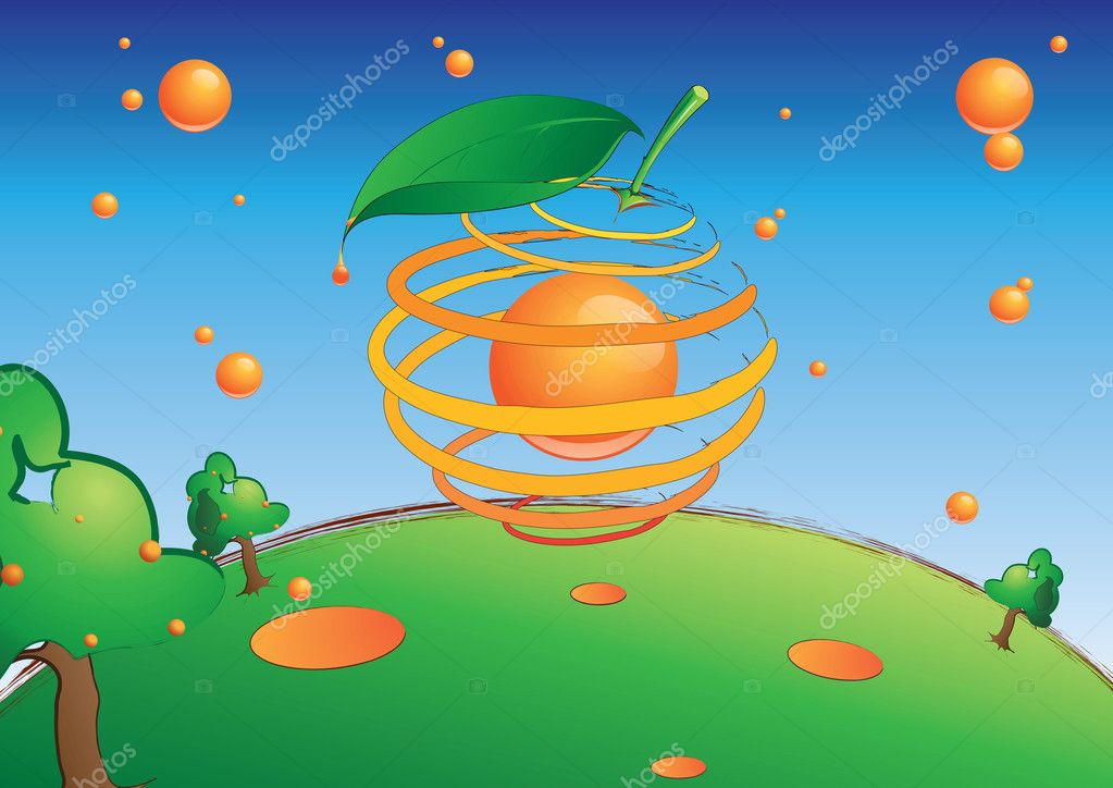 Cool graphic to use in an ad of an orange related product — Stock Photo #7708449