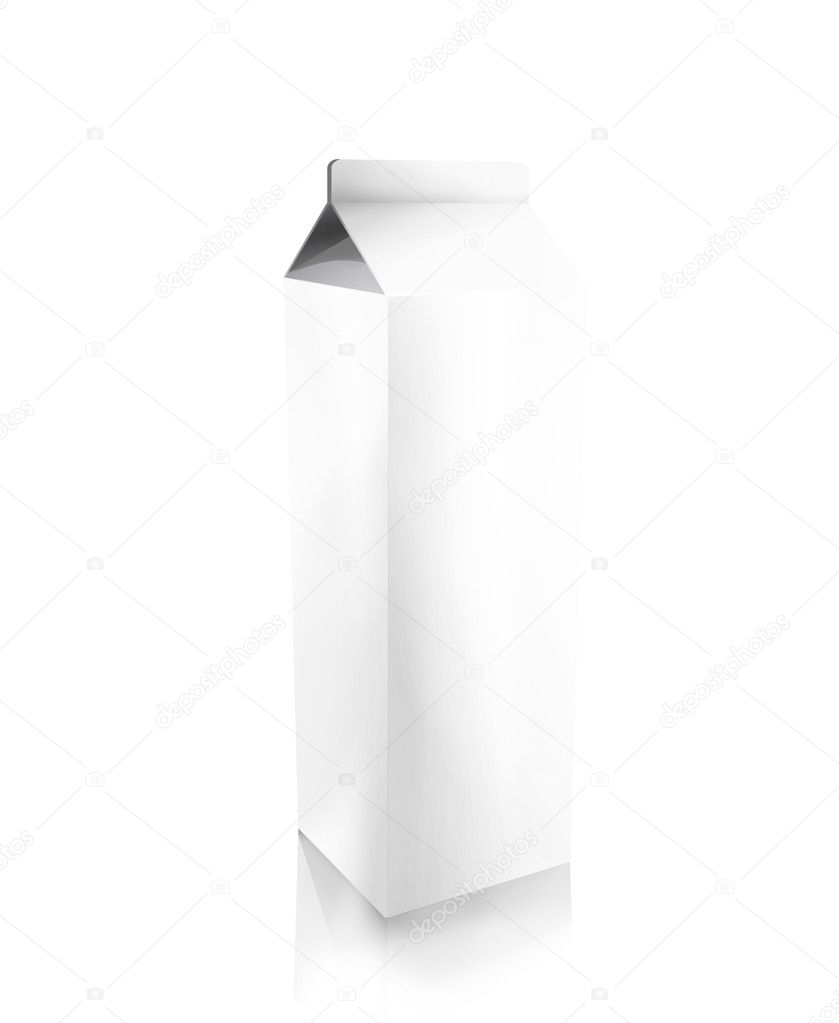 Blank carton isolated over a white background — Stock Photo #7708456