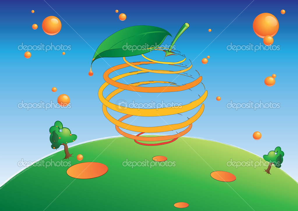 Cool illustration to be used in an ad of an orange related product — Stock Photo #7708459