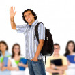 Student smiling - Stock Photo