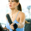 Girl at the gym — Foto Stock