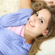 Beautiful woman smiling — Stock Photo #7710114