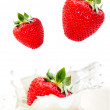 Creamy strawberry — Stock Photo