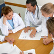 Foto Stock: Doctors meeting