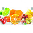 Foto de Stock  : Fruits mosaic