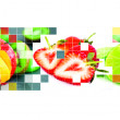 Fruits mosaic — Stock Photo