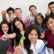 Group of young students — Stock Photo #7710342