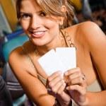 mujer en un casino — Foto de Stock   #7710356