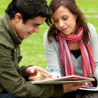 Studying outdoors - Stock Photo