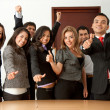 Business group with thumbs up — Stock Photo #7710437
