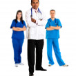 Doctor leading group — Stock Photo #7710490
