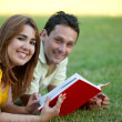 Couple studying - Stock Photo