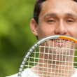 Man and a racket — Stock Photo #7710570