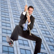 Business jump - Stock Photo