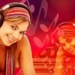 Music woman - Foto Stock
