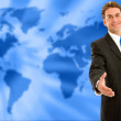 World wide business man — Foto de Stock